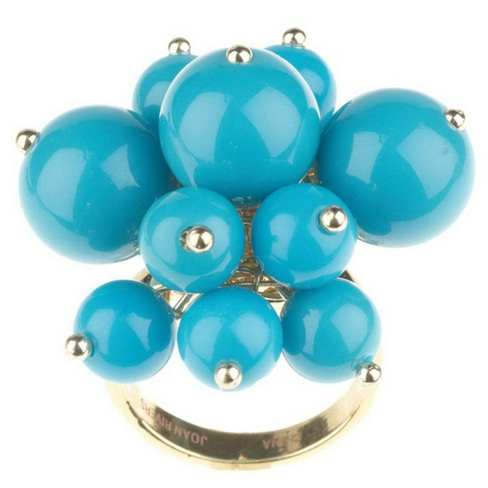 Blue bead ring size 9